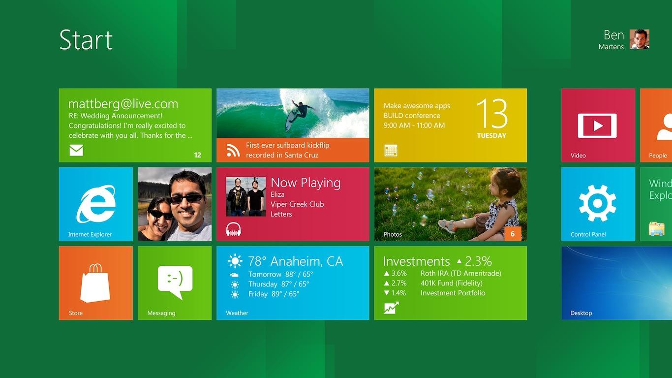 Windows 8 Developer Preview Metro