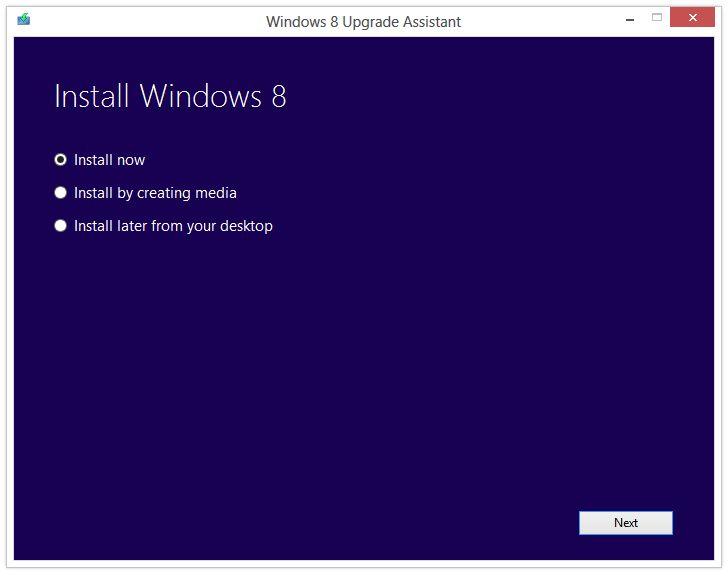 Windows 8 Pro mise à jour